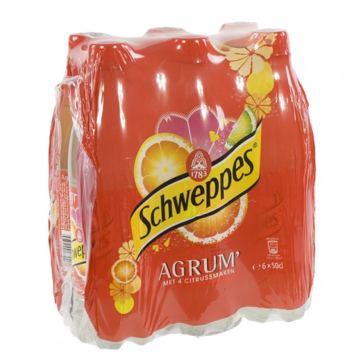 Schweppes agrum PET  Regular  50 cl  Pak  6 st