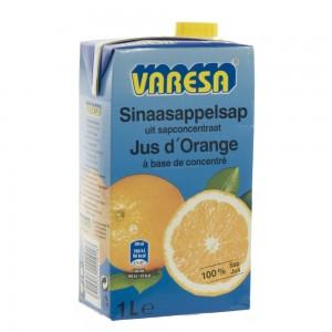 Fruitsap Brik Varesa Sinaas (blauwe pak)  1 liter   Fles