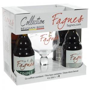 Super De Fagnes Mix Giftpack  33 cl  4fles+ 1glas
