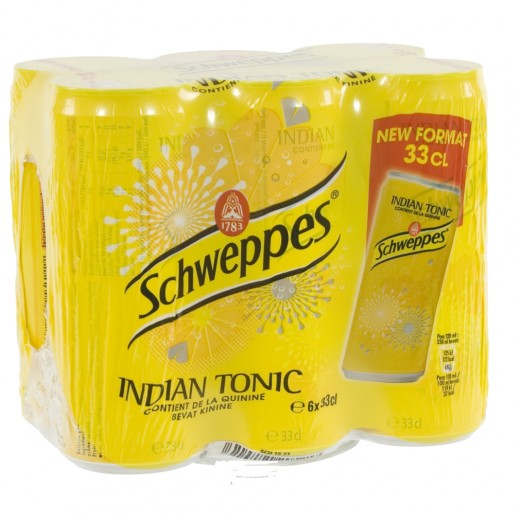 Schweppes Tonic BLIK  Regular  33 cl  Blik  6 pak