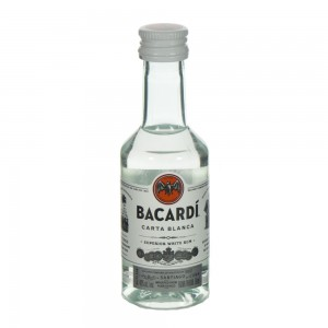 Bacardi Carta Blanca 37.5%  5 cl   Stuk