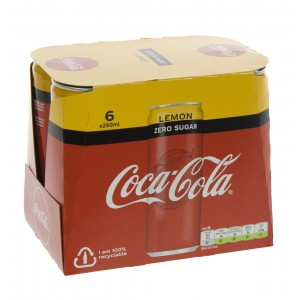 Coca Cola  Zero Lemon  25 cl  Blik  6 pak