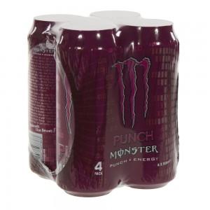 Monster  Punch Energy  50 cl  Blik 4 pak
