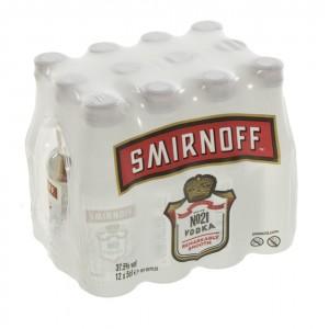Smirnoff premium red 21  37,5%  5 cl  Pak 12 st