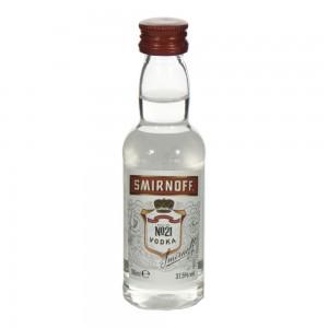 Smirnoff premium red 21  37,5%  5 cl   Fles