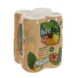 Fuze Tea BLIK  Black Peach Hibiskus  33 cl  Blik 4 pak