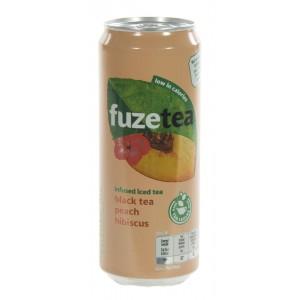 Fuze Tea BLIK  Black Peach Hibiskus  33 cl  Blik