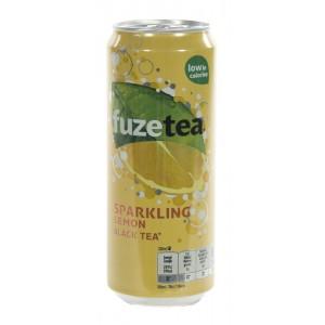 Fuze Tea BLIK  Black Sprankling  33 cl  Blik