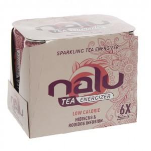 Nalu Tea Energizer  Hibiscus-Rooibos  25 cl  Blik  6 pak