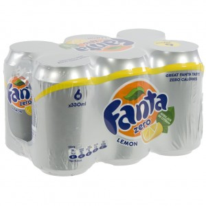 Fanta BLIK  Lemon Zero  33 cl  Blik  6 pak