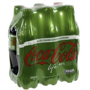 Coca Cola PET  Life  50 cl  Pak  6 st