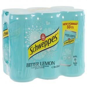 Schweppes Bitter lemon BLIK  33 cl  Pak  6 st