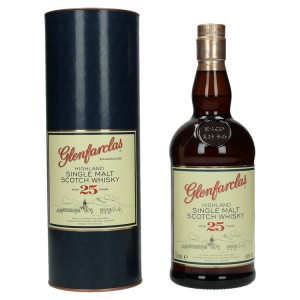 Glenfarclas 25 Years old Whisky decanter 43%  70 cl
