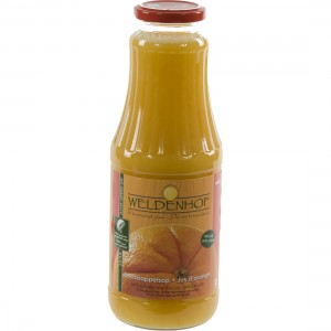 Weldenhof fruitsap  Sinaas + pulp  1 liter   Fles