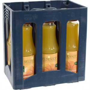 Weldenhof fruitsap  Sinaas + pulp  1 liter  Bak  6 fl