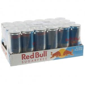 Red Bull  Sugarfree  25 cl  Pak 24 st