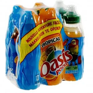 Oasis PET  Tropical  25 cl  Pak  6 st