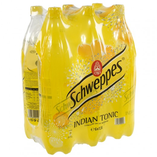 Schweppes Tonic PET  Regular  1,5 liter  Pak  6 st