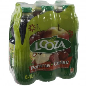 Looza PET  Appel Kers  1 liter  Pak  6 st