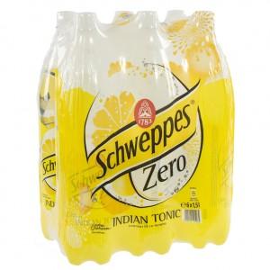 Schweppes Tonic PET  Zero  1,5 liter  Pak  6 st