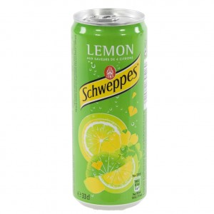 Schweppes lemon blik  Regular  33 cl  Blik