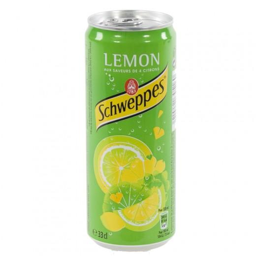 Schweppes lemon blik  Regular  33 cl  Blik