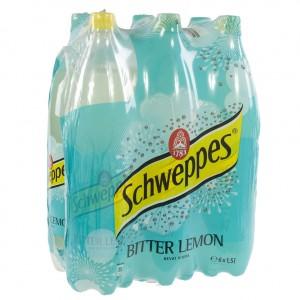 Schweppes Bitter lemon PET  1,5 liter  Pak  6 st