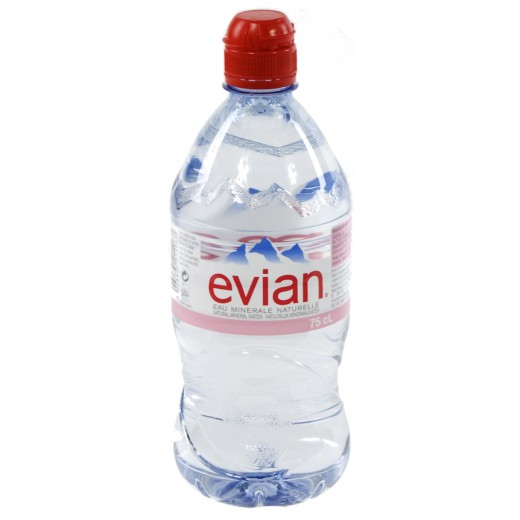 Evian PET  Plat  75 cl sportdop   Fles