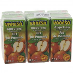 Fruitsap Brik Varesa  Appel  20 cl  Pak  6 st