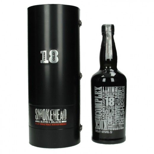 Smokehead extra Black 18Y 46%  70 cl   Fles