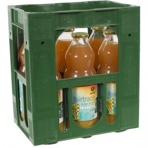 Fruitsap oxfam  Tropical  1 liter  Bak  6 fl