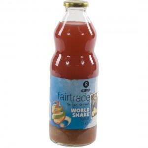 Fruitsap oxfam  Worldshakesap  1 liter   Fles