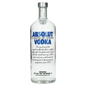 Absolut vodka 40%  1 liter