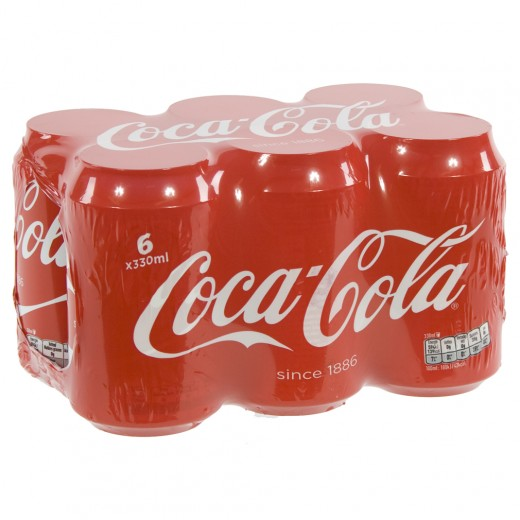 Coca Cola  Regular  33 cl  Blik  6 pak