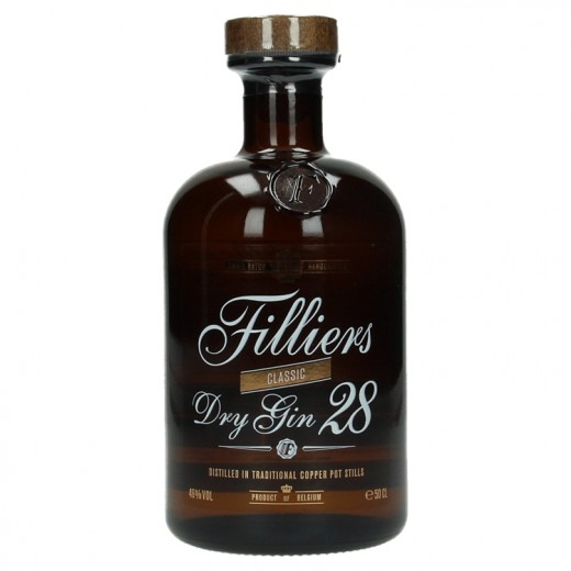 Filliers Dry gin 28 46°  50 cl