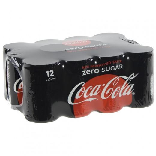 Coca Cola  Zero  15 cl  Blik 12 pak