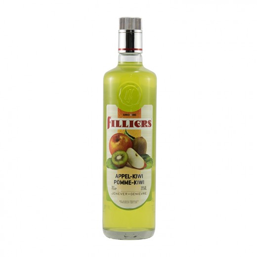 Filliers Fruit Jenever 20%  Appel kiwi  70 cl
