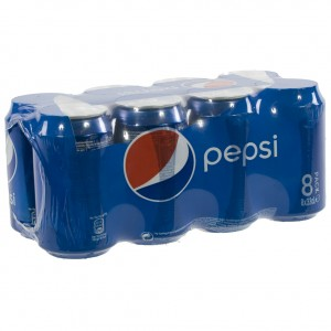 Pepsi BLIK  Regular  33 cl  Blik  8 pak