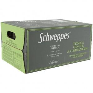 Schweppes Prem. Tonic  Ginger Cardamomo  20 cl  Doos 24 st