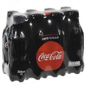 Coca Cola PET  Zero  25 cl  Pak  8 st