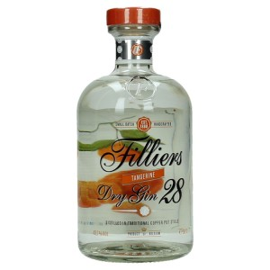 Filliers Tangerine dry gin 43,7°  50 cl