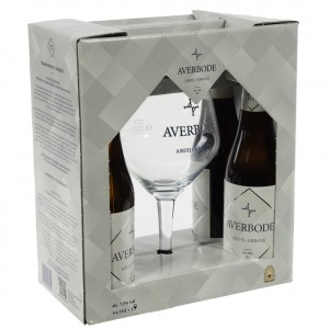 Averbode geschenk  Blond  33 cl  4fles+ 1glas