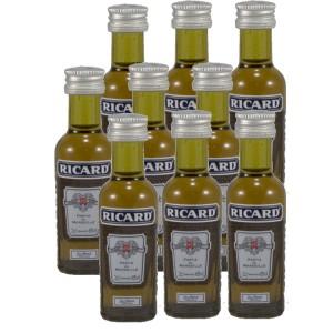 Ricard pastis  45%  2 cl  9 Flessen