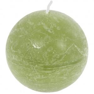 Kaars rustic bol  Groen