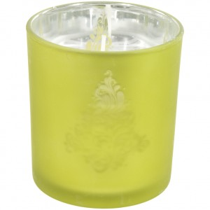 Kaars glas metallic  Groen