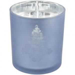 Kaars glas metallic  Blauw