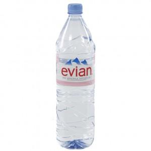 Evian PET  Plat  1,5 liter   Fles