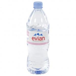 Evian PET  Plat  1 liter   Fles