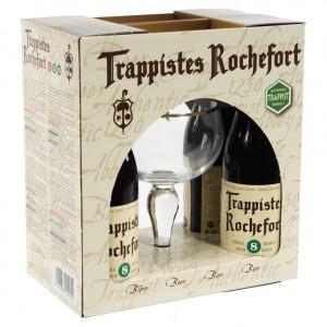 Rochefort 4 fl + glas Trappist  33 cl  4fles+ 1glas