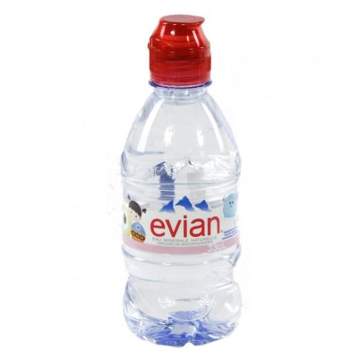 Evian PET  Plat  33 cl sportdop   Fles